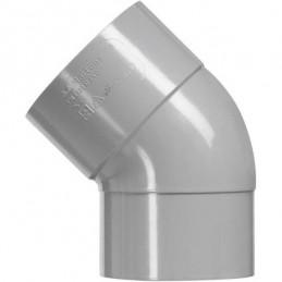 Martens PVC bocht 125mm 1xlm 45 graden grijs