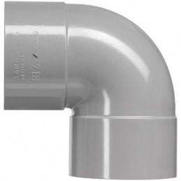 PVC bocht 32mm 2xlm 90 graden grijs