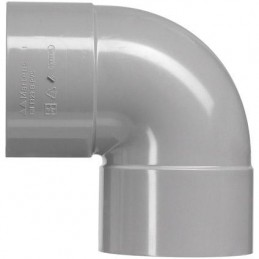 Martens PVC bocht 40mm 2xlm 90 graden grijs