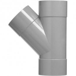 Martens PVC T-stuk 50mm 3xlm 45 graden