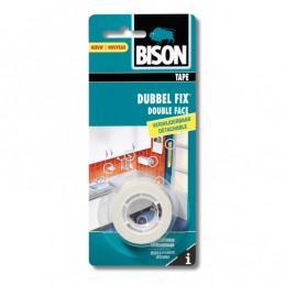 Bison Dubbel Fix dubbelzijdig tape wit