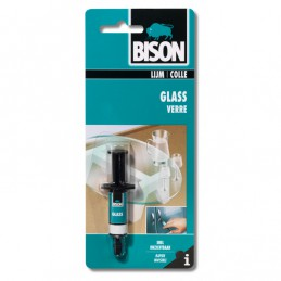 Bison glass glaslijm 2 ml spuit