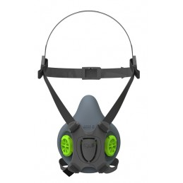 BLS Halfgelaatsmasker 4000 rubber S/M