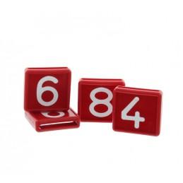 Kokernummer rood 10 stuks nr. 1