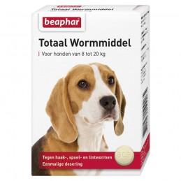 Totaal wormmiddel hond 8-20 kg 2 tabletten