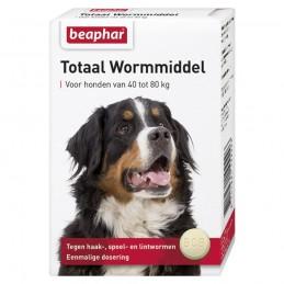 Totaal wormmiddel hond 40-80 kg 8 tabletten