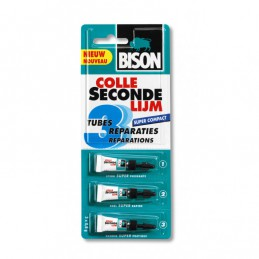 Bison Secondelijm 3 x 0.8 gram