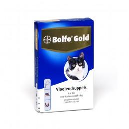 Katten vlooiendruppels gold 80 4kg 2 pipetten