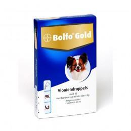 Honden vlooiendruppels gold 40 4kg 2 pipetten