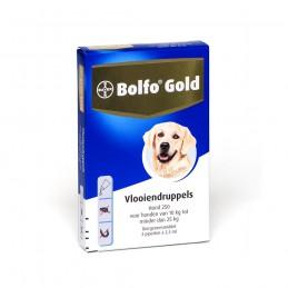 Honden vlooienmiddel gold 250 10- 25 kg 2 pipetten.