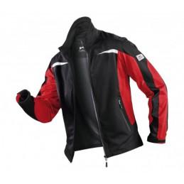 Kübler ultrashell jack zwart rood