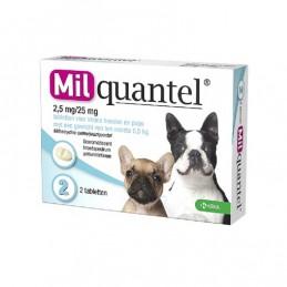 Milquantel wormtablet kleine hond / pup 2 stuks