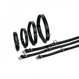 BZ Halsband Leder Zwart 62 cm X 25 mm