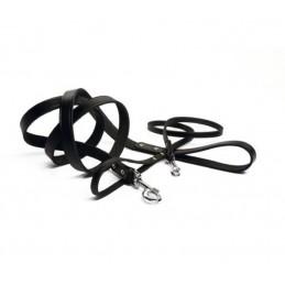 BZ Lederen Hondenriem Geniet zwart 200 cm x 16 mm
