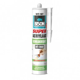 Acrylaatkit super anti-crack wit 300 ml