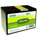 Batterij 12 Volt - 690 Wh 60 Ah Alkaline