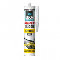 Bison super siliconenkit kitchen transparant 310 ml