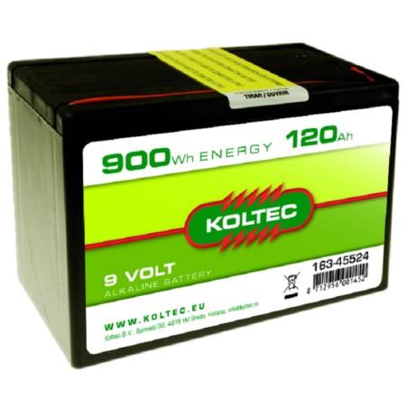 Batterij 9 Volt - 900 Wh 120 Ah Alkaline