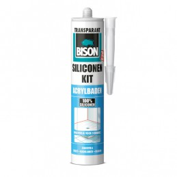 Bison siliconenkit acrylbaden transparant 310 ml