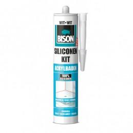 Bison siliconenkit acrylbaden wit 310 ml