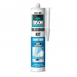 Bison sanitair siliconenkit wit 310 ml