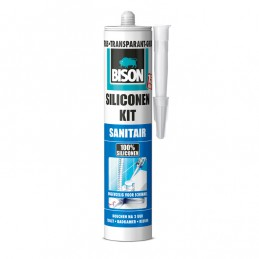 Bison sanitair siliconenkit transparant grijs 310 ml