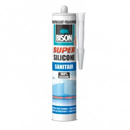 Bison sanitair siliconenkit Super transparant 310 ml