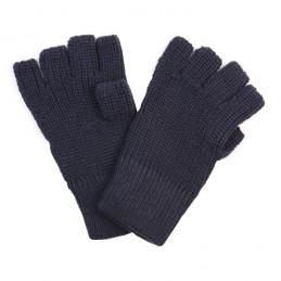 Handschoen mof 100% acryl blauw