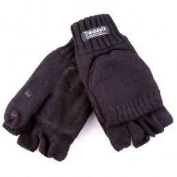Handschoen mof / flap Antraciet zwart