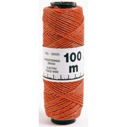 Schrikdraad oranje 2mm 100m