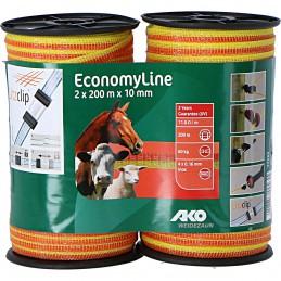 Ako lint Economyline dubbelpak geel / oranje 10 mm 2x200m
