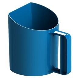 Voerschep 1kg Bekermodel Blauw