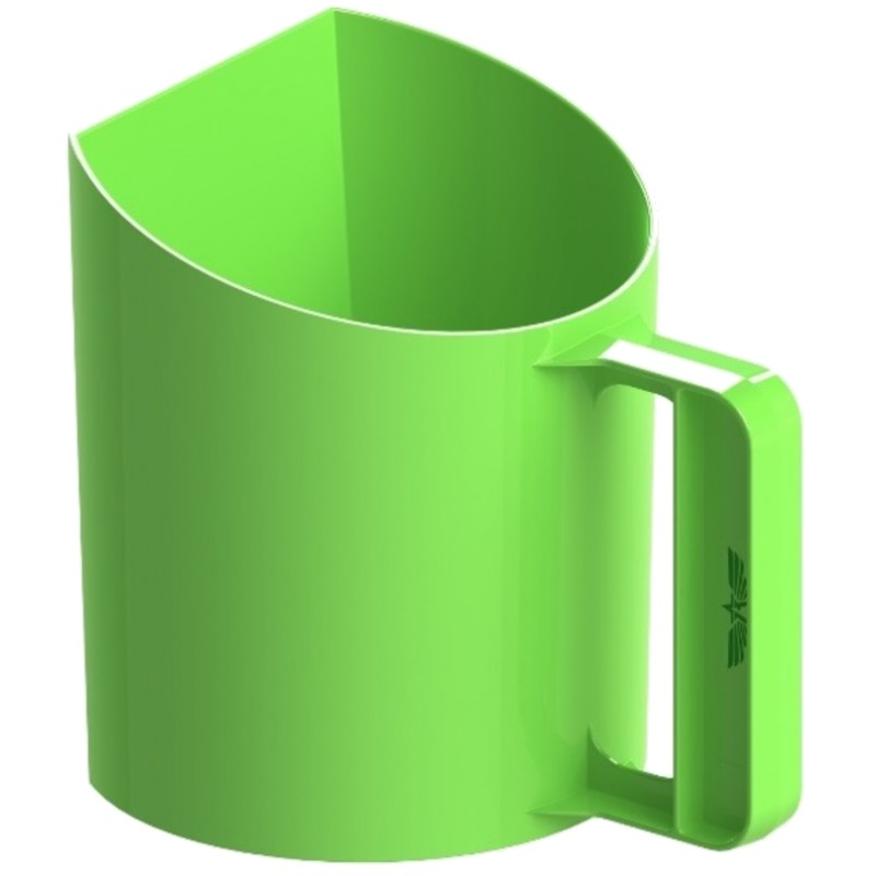 Voerschep 1kg Bekermodel Groen