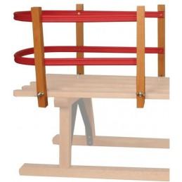 Ruggensteun kunststof voor houten slede