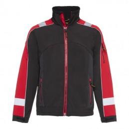 Softshell jas Glenn zwart / rood