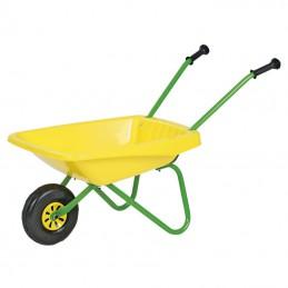 Kinderkruiwagen metaal geel