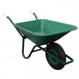 Kruiwagen 90 liter PE bak groen