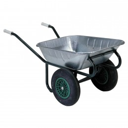 Kruiwagen 90 liter verzinkt met 2 wielen