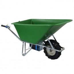 E-Powerbarrow kruiwagen 160L HDPE groen Li-ion accu