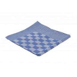 Theedoek blauw geblokt 65 x 65 cm 6 stuks
