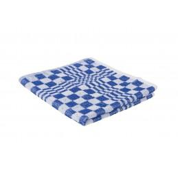 Handdoek blauw geblokt 50 x 50 cm 3 stuks