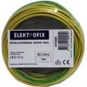 Groen/geel installatiedraad 10 m x 2,5 mm
