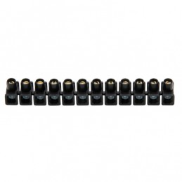 kroonstrip 4 - 6 mm²  12-polig zwart 2 stuks