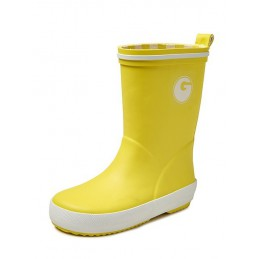 Groovy rubber kinderlaars geel