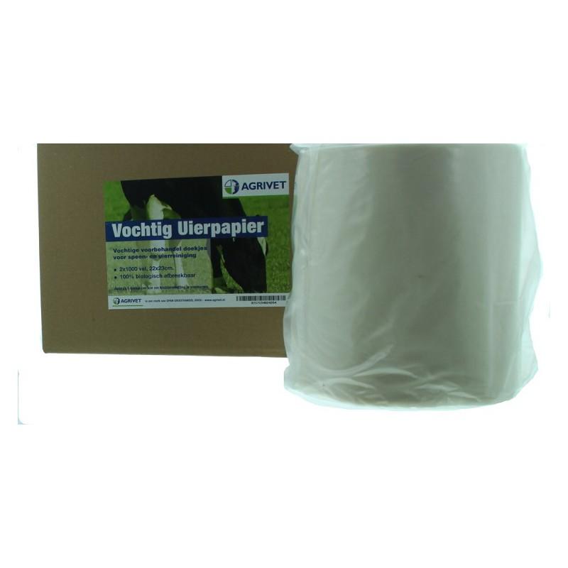 Uierpapier vochtig 2 x 1000 vel