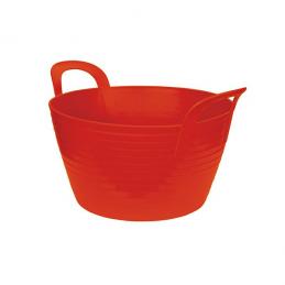 Flexibele mand rood 12 liter