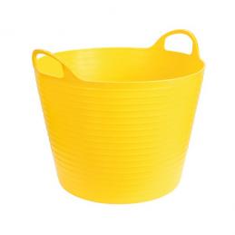 Flexibele mand geel 28 liter
