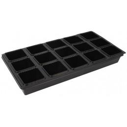 Kweekbak met vierkante potjes 12 stuks