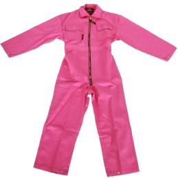 Kinder rallyoverall Roze