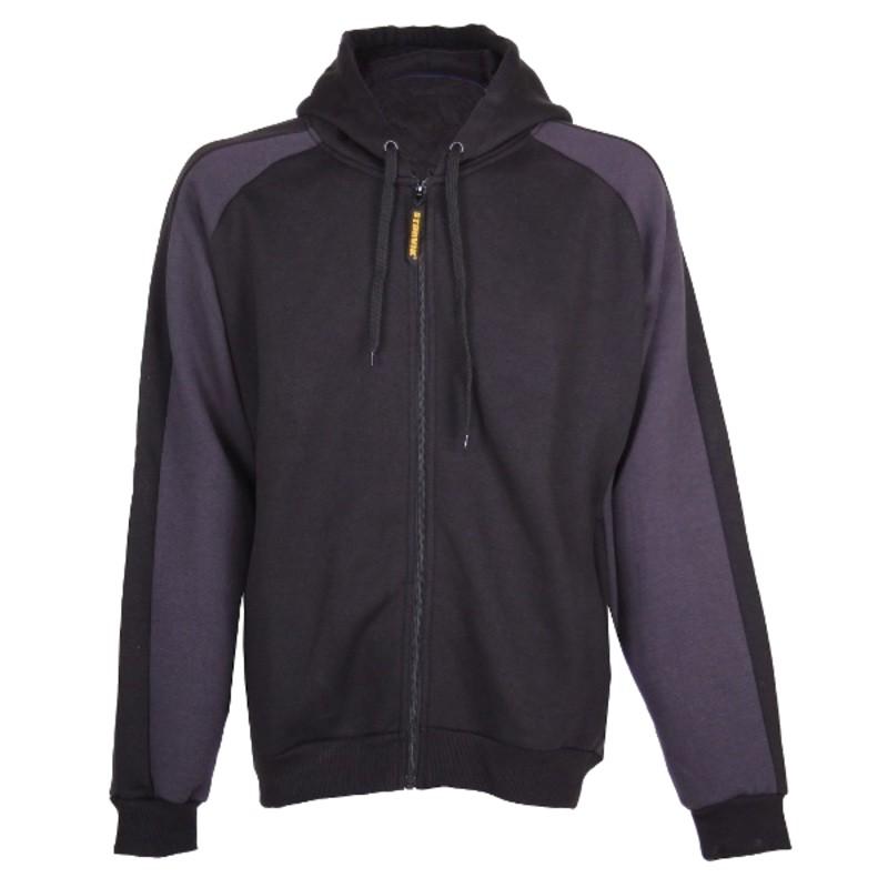 Hooded sweater Frank zwart/antra